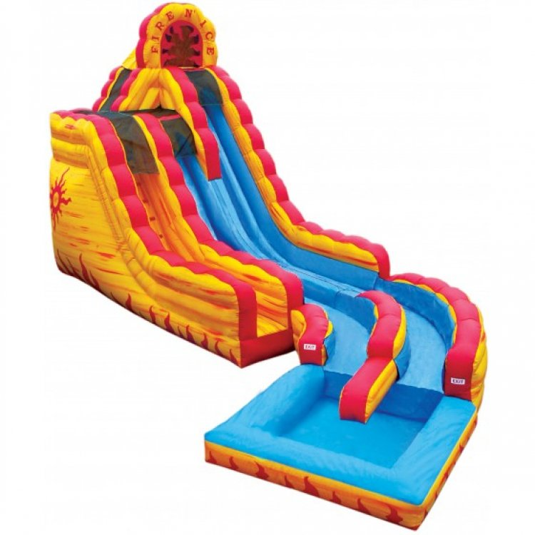 20' FIre & Ice Water Slide