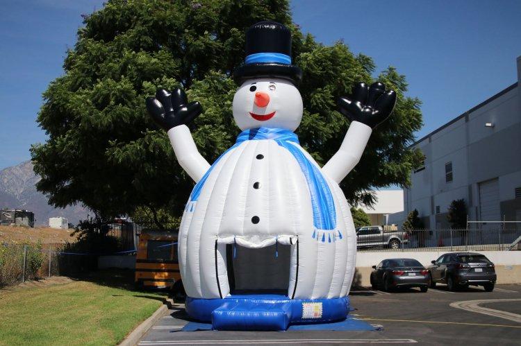Snowman Bounce House